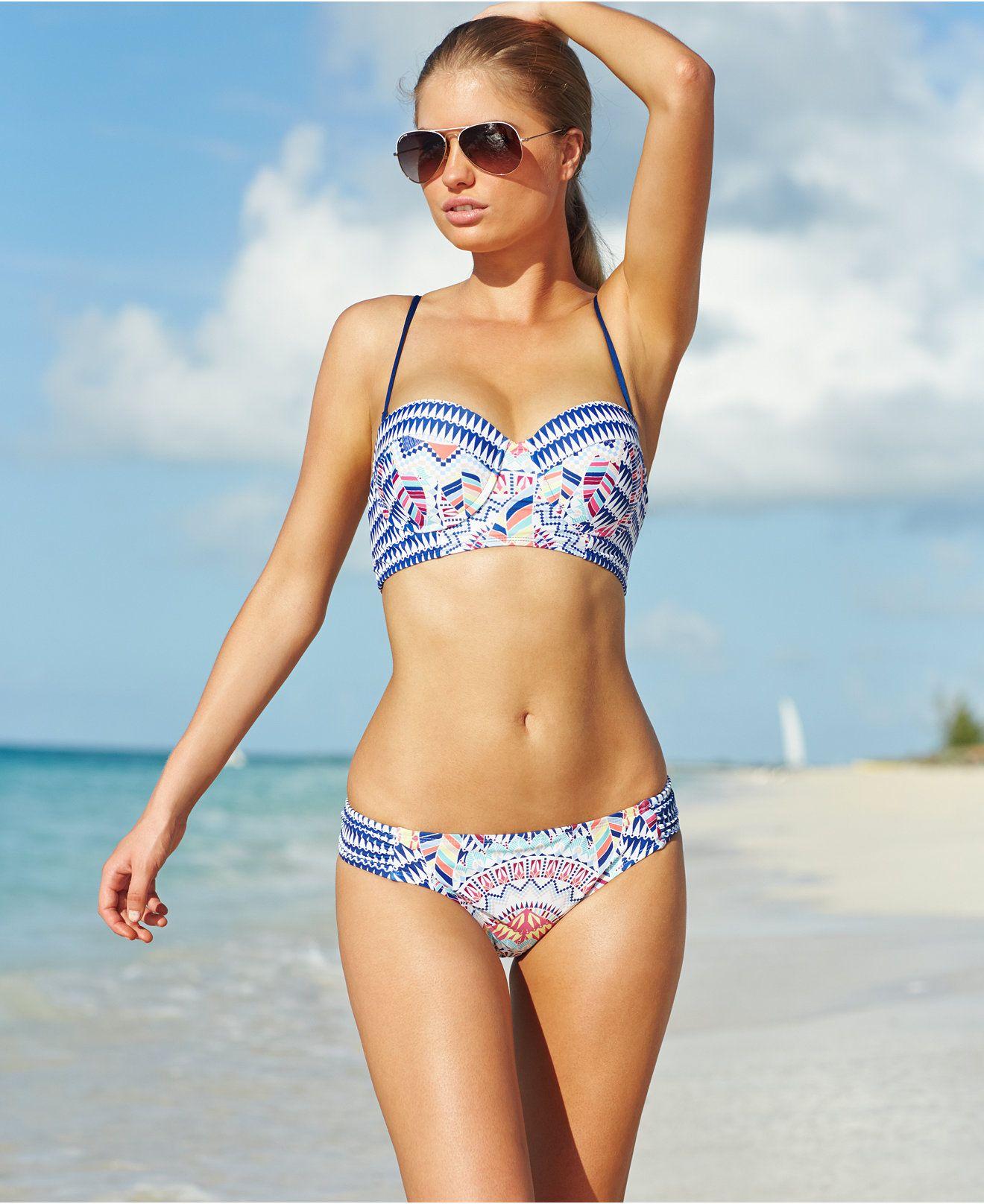 Bar III Underwire Bikini Top U0026 Side Tab Hipster Bottom   Swimwear   Women