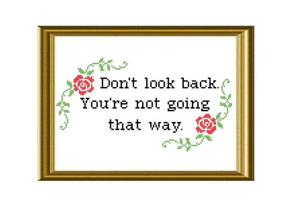 Inspirational Quote Counted Cross Stitch Pattern by RatherUnseamly, £3.00