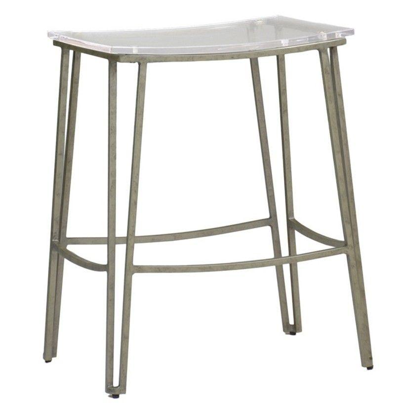 Gabby Pierce Counter Stool Silver Acrylic Counter