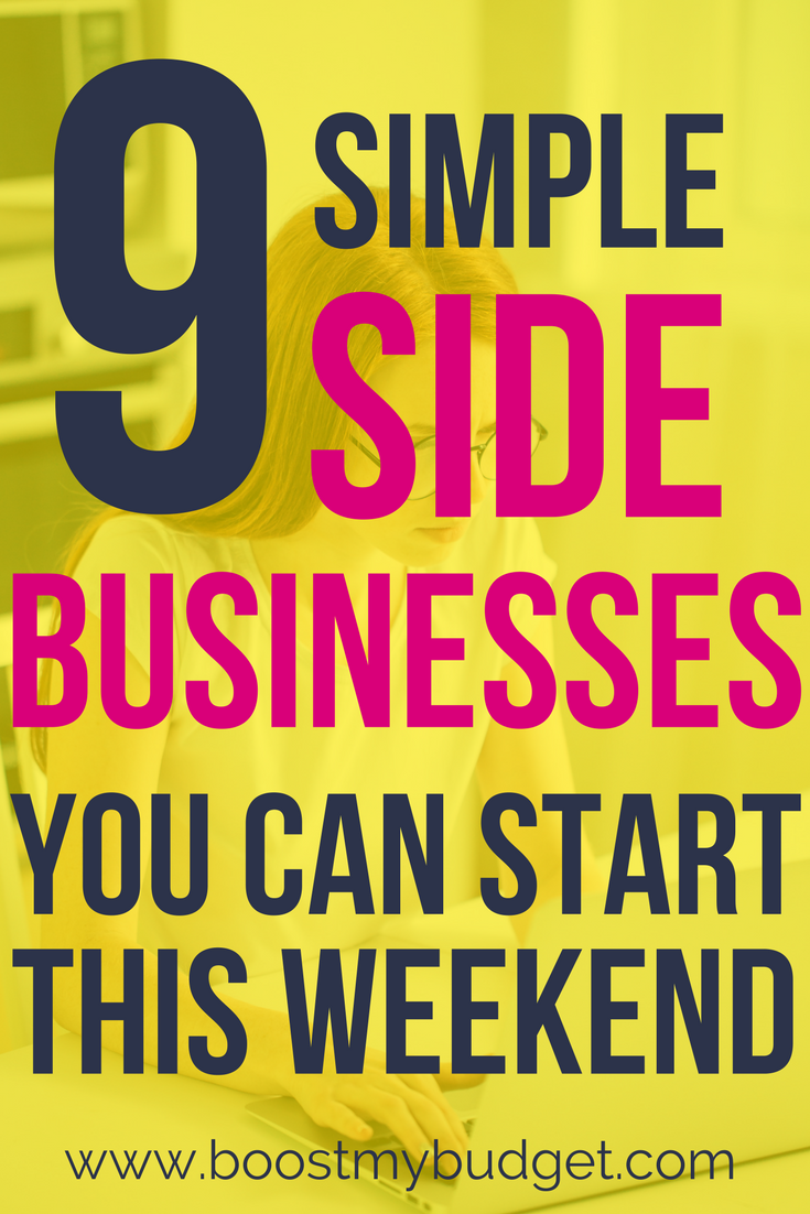 9 simple side businesses you can start this weekend | wahwork at