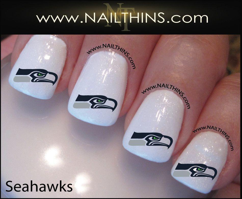 Seattle Seahawks Nail Decal NAILTHINS Seahawks nail designs ...