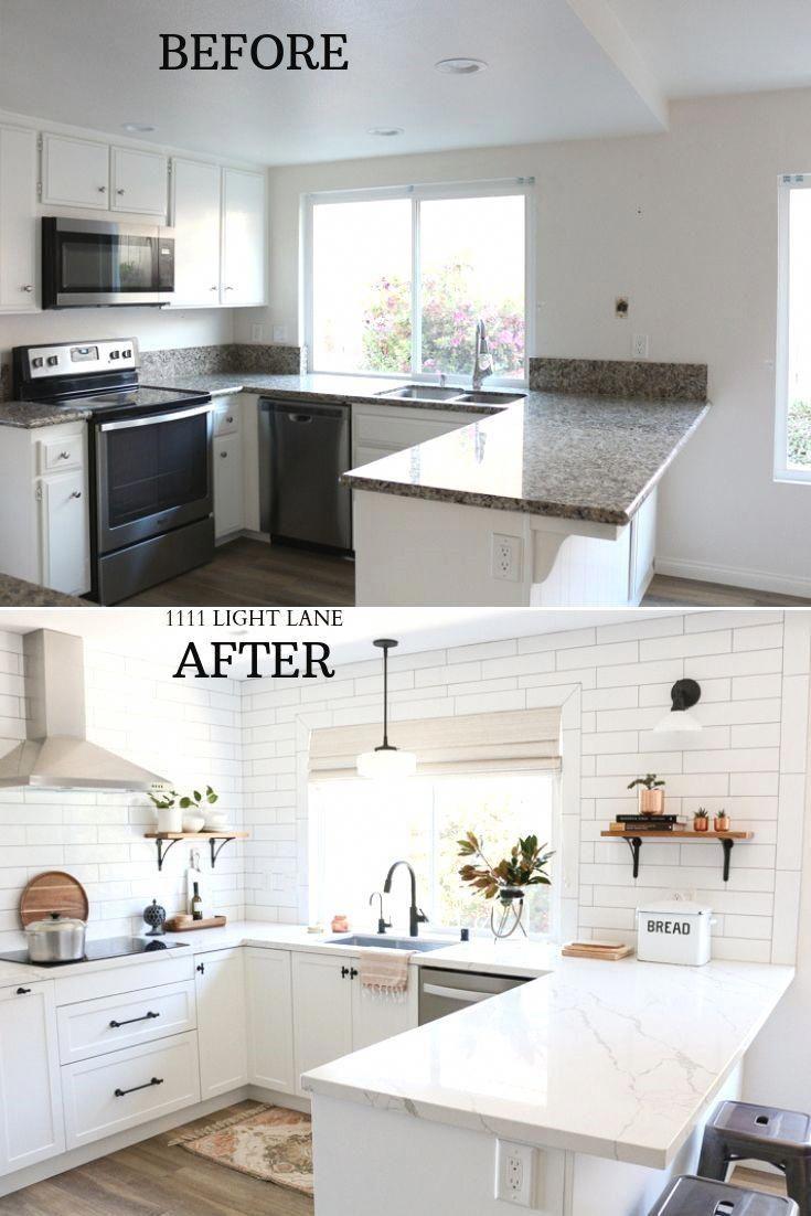Photo of White Semihandmade Kitchen Renovation: Before + After – 1111 Light Lane