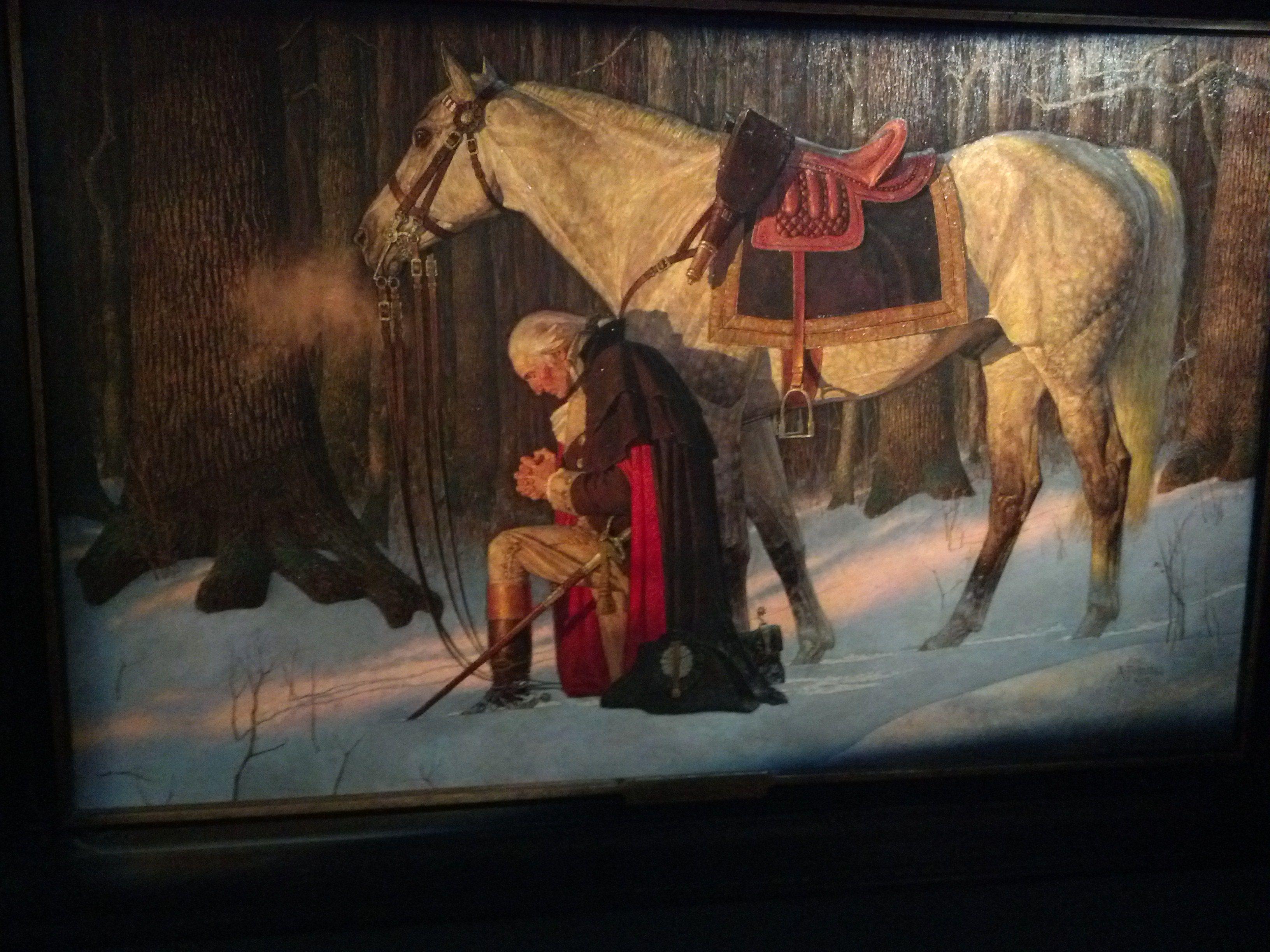 George Washington Prayer at Valley Forge 16 x 20
