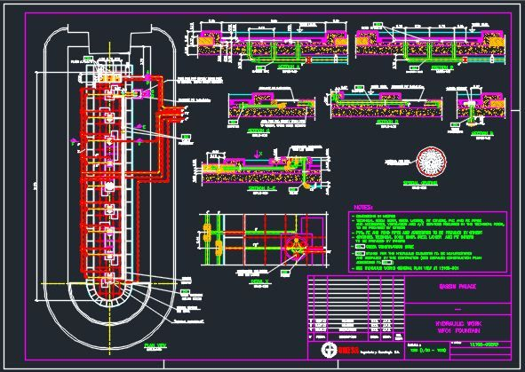 Fountains Autocad Drawings Including Plumbing And Drainage