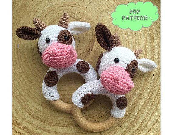 Amigurumi Vaca : Crochet pattern rattle cow sonajero ganchillo patrones y vaca