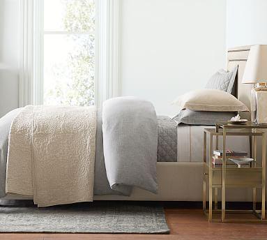 Belgian Flax Linen Duvet Cover Amp Sham Smoke Potterybarn Furniture Upholstered Beds Bedroom Colors