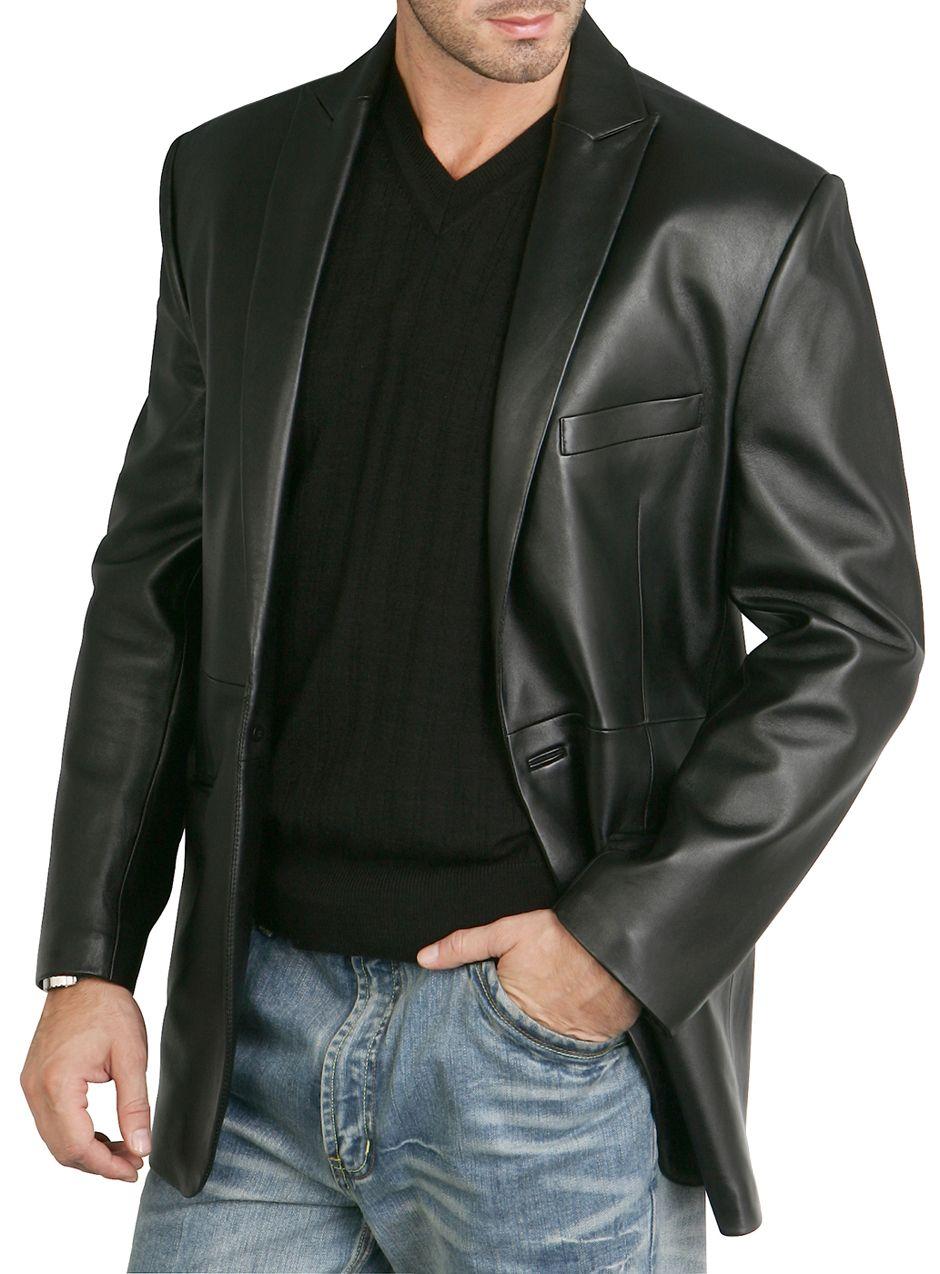 A classic BGSD Men's OneButton Lambskin Leather Blazer