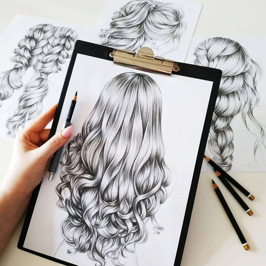 What Do You Like To Draw And Makes You Happy I Make A New Sketches Wich One Day You Will C How To Draw Hair Pencil Drawings Of Love Easy