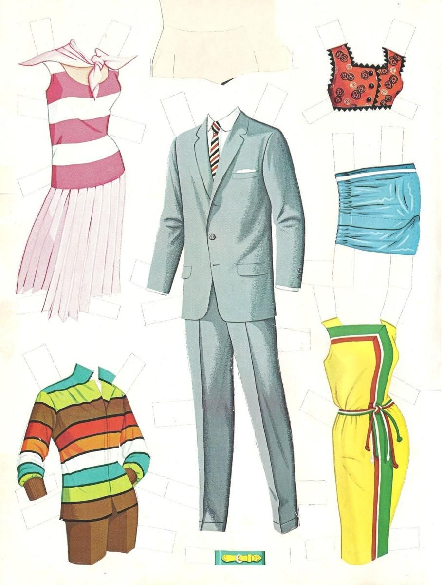 Barbie, Ken and Midge, 60s Paper Dolls