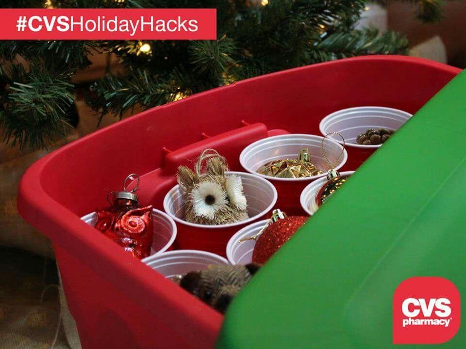 holiday decor storage idea from cvs