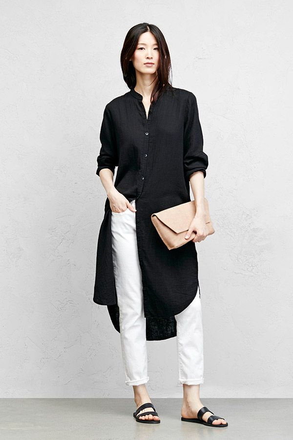 Access Denied Dress Over Pants Fashion Eileen Fisher Style