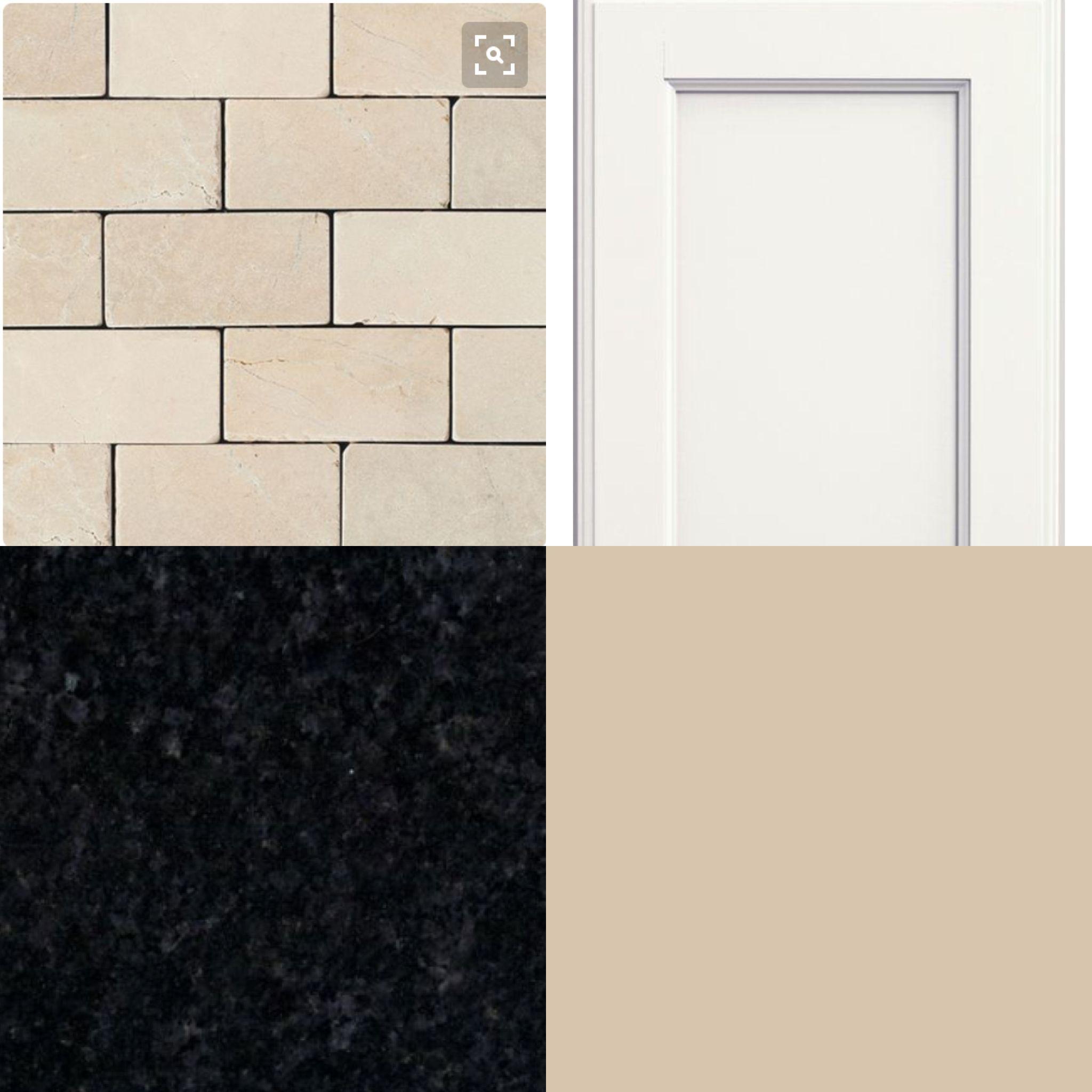 Crema Marfil Tumble Stone Snowdrift Cabinets Black Pearl Granite Kilim Beige Paint