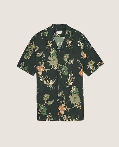 chemise fleurie chemises zara canada camisas en 2018. Black Bedroom Furniture Sets. Home Design Ideas