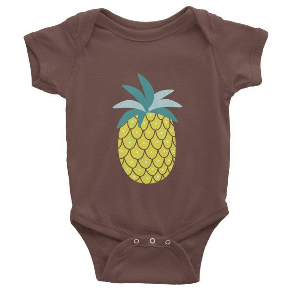 Infant short sleeve one-piece - Pineapple