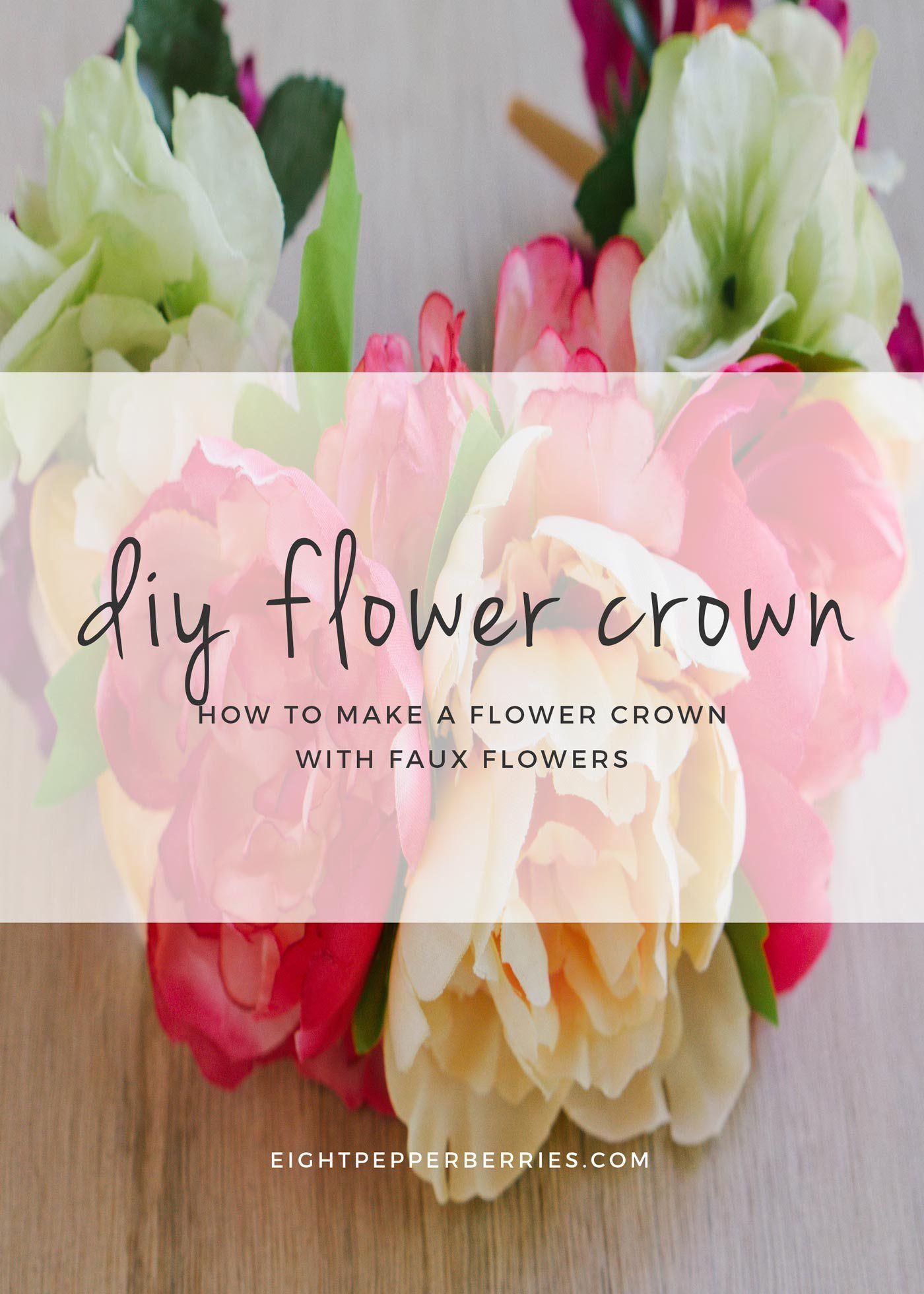 Diy faux flower crown faux flowers flower crowns and crown diy faux flower crown tutorial eightpepperberriesdiy faux izmirmasajfo