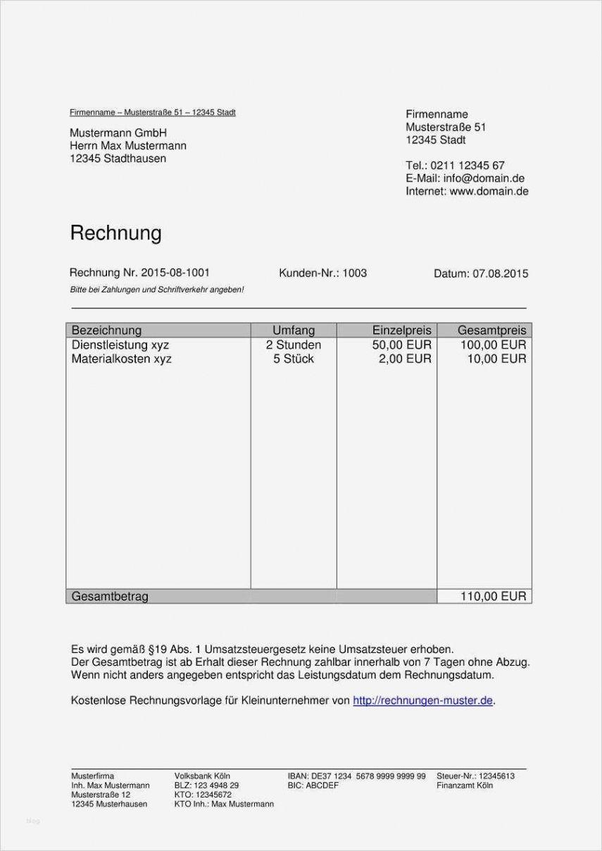 Blattern Unsere Das Beispiel Von Rechnung Nebentatigkeit Vorlage In 2020 Rechnung Vorlage Rechnungsvorlage Excel Vorlage