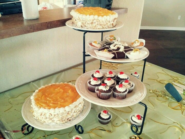 Pin By Wendy A Morales On My Own Cakes Anniversary Dessert Desserts Dessert Table