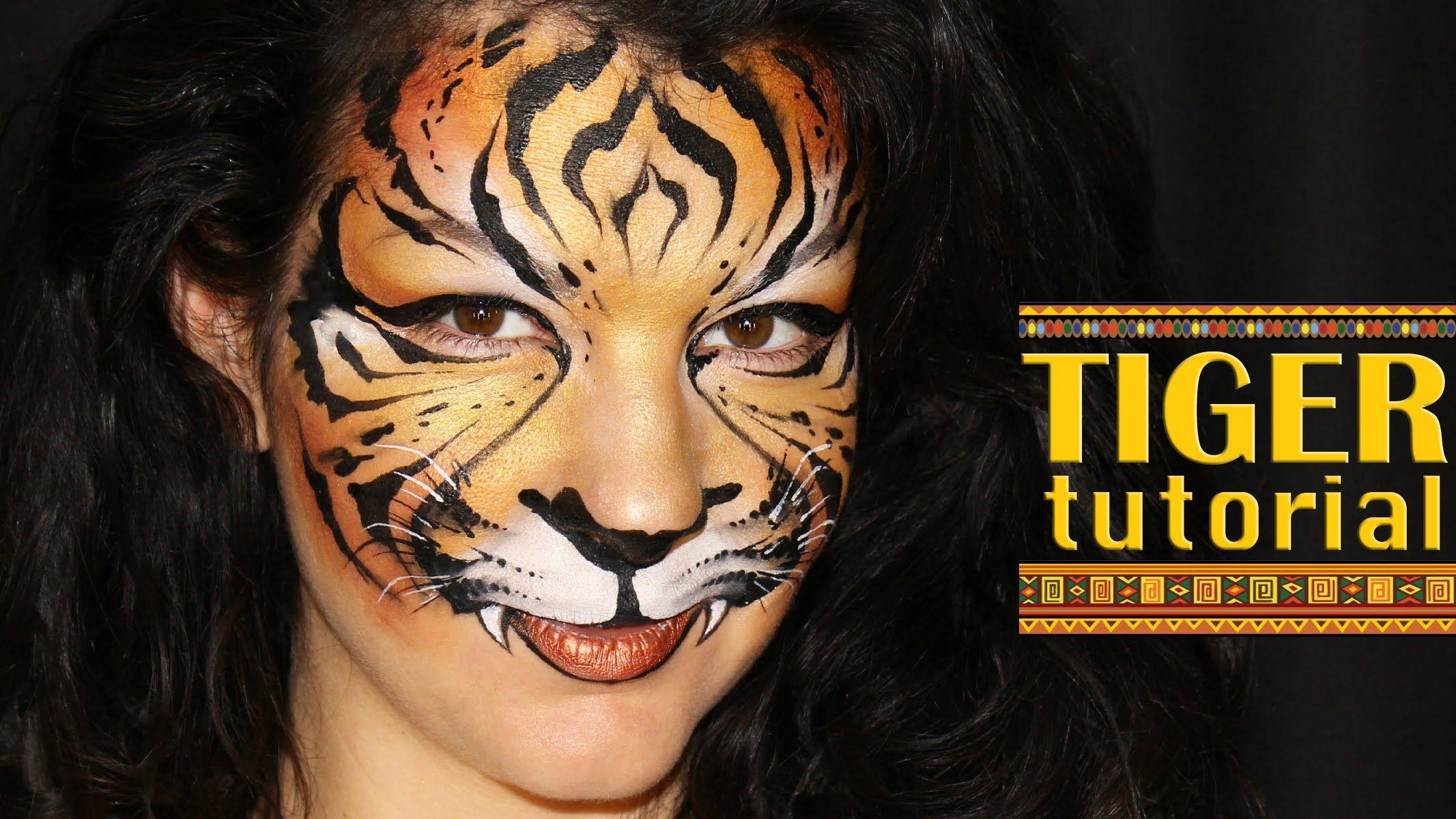 tiger face painting tutorial face. Black Bedroom Furniture Sets. Home Design Ideas