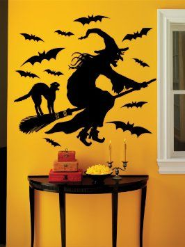 explore vinyl wall decals halloween witches and more - Window Clings Halloween