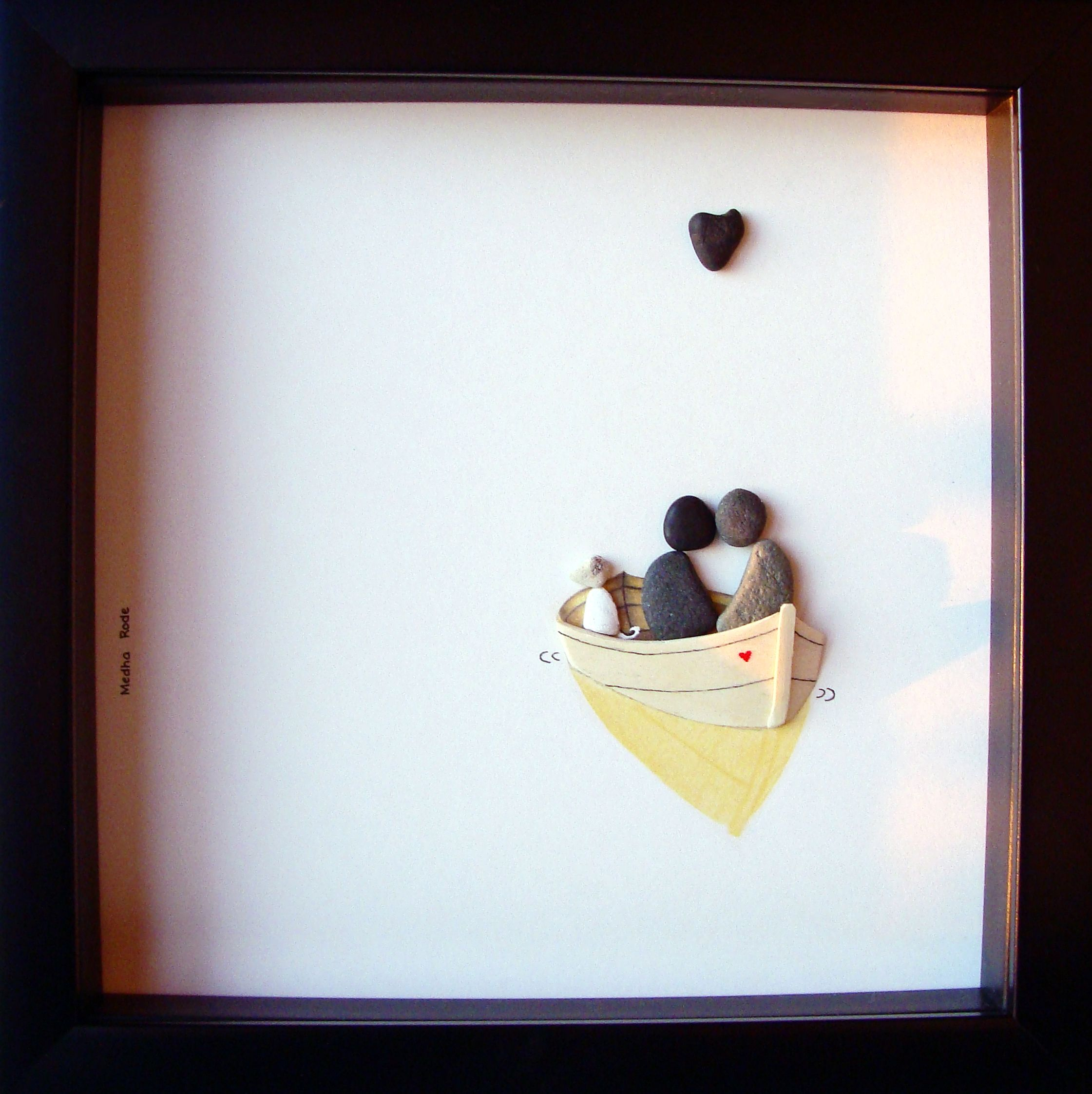 Wedding Gifts For Dog Lovers: Unique Engagement Gift- Engagement Pebble Art- Couple's