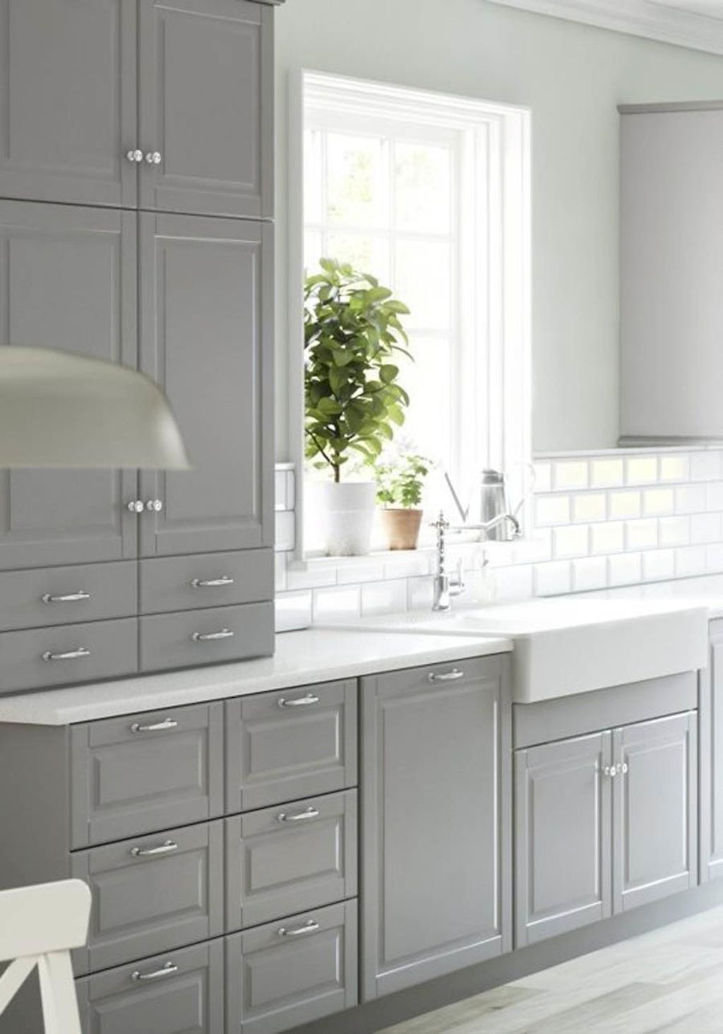 Küchenschrank ideen kleine küchen  awesome gray kitchen cabinet design ideas  häuschen  pinterest