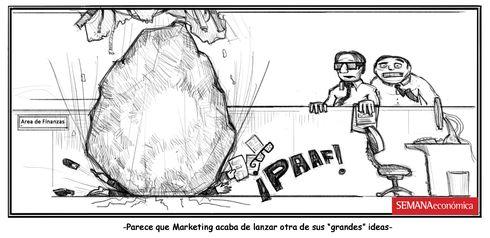Sección de humor de Semana Económica. Ideas del marketing.
