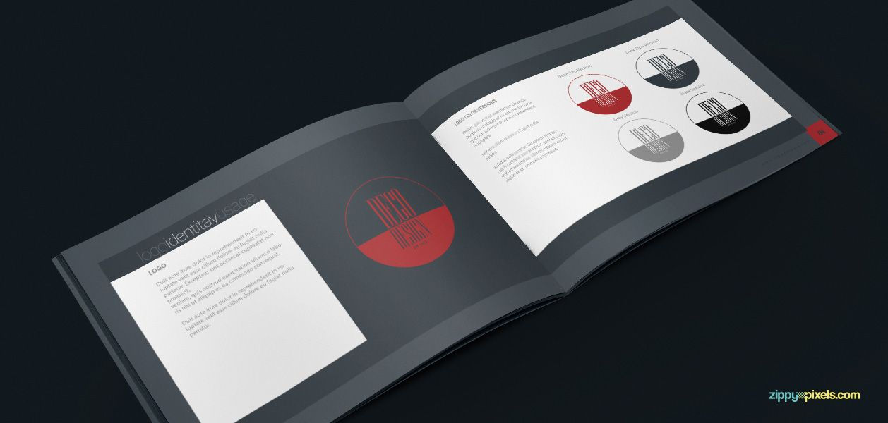 Brand Book Template for Corporate Guidelines | Brand Book Templates ...