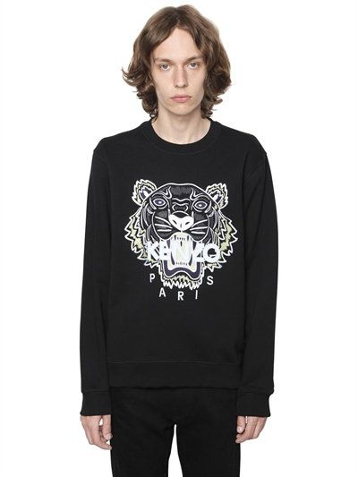 aee8cc8c00a KENZO EMBROIDERED TIGER COTTON SWEATSHIRT