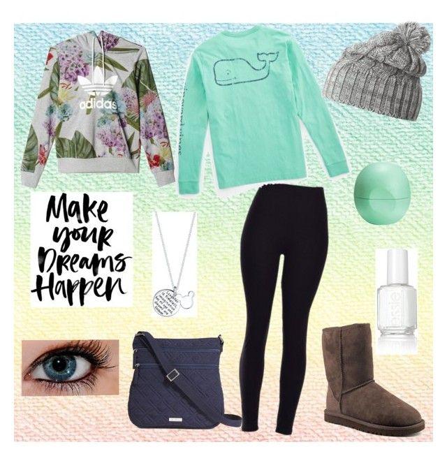 """Lazy day"" by sydsweeney14 on Polyvore featuring Vineyard Vines, UGG Australia, Disney, Helly Hansen, Eos, Essie, Vera Bradley, adidas, women's clothing and women's fashion"