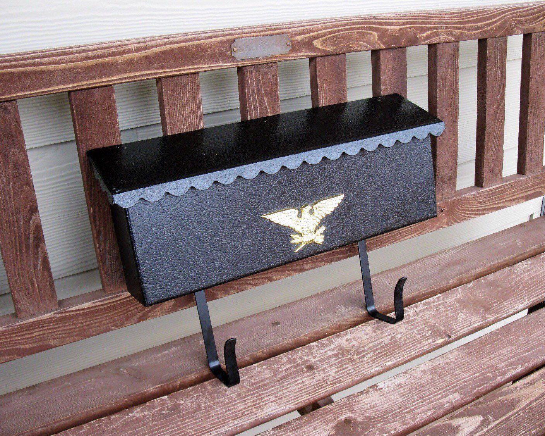 Metal Mail Box Wall Mount Newspaper Brackets Gold Eagle Etsy Porch Mailbox Mailbox Wall Mount