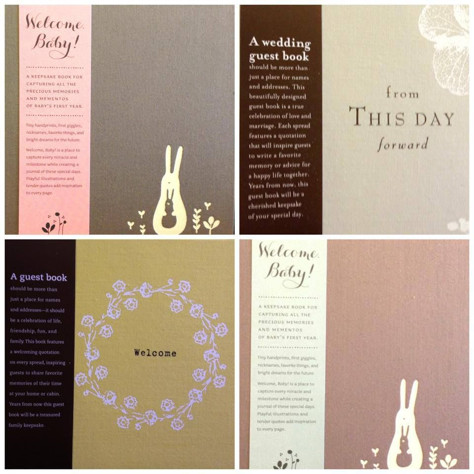 modern and sleek... baby books, guest books or wedding guest books... make a great gift! email us at info@heritagehenderson.com to order!