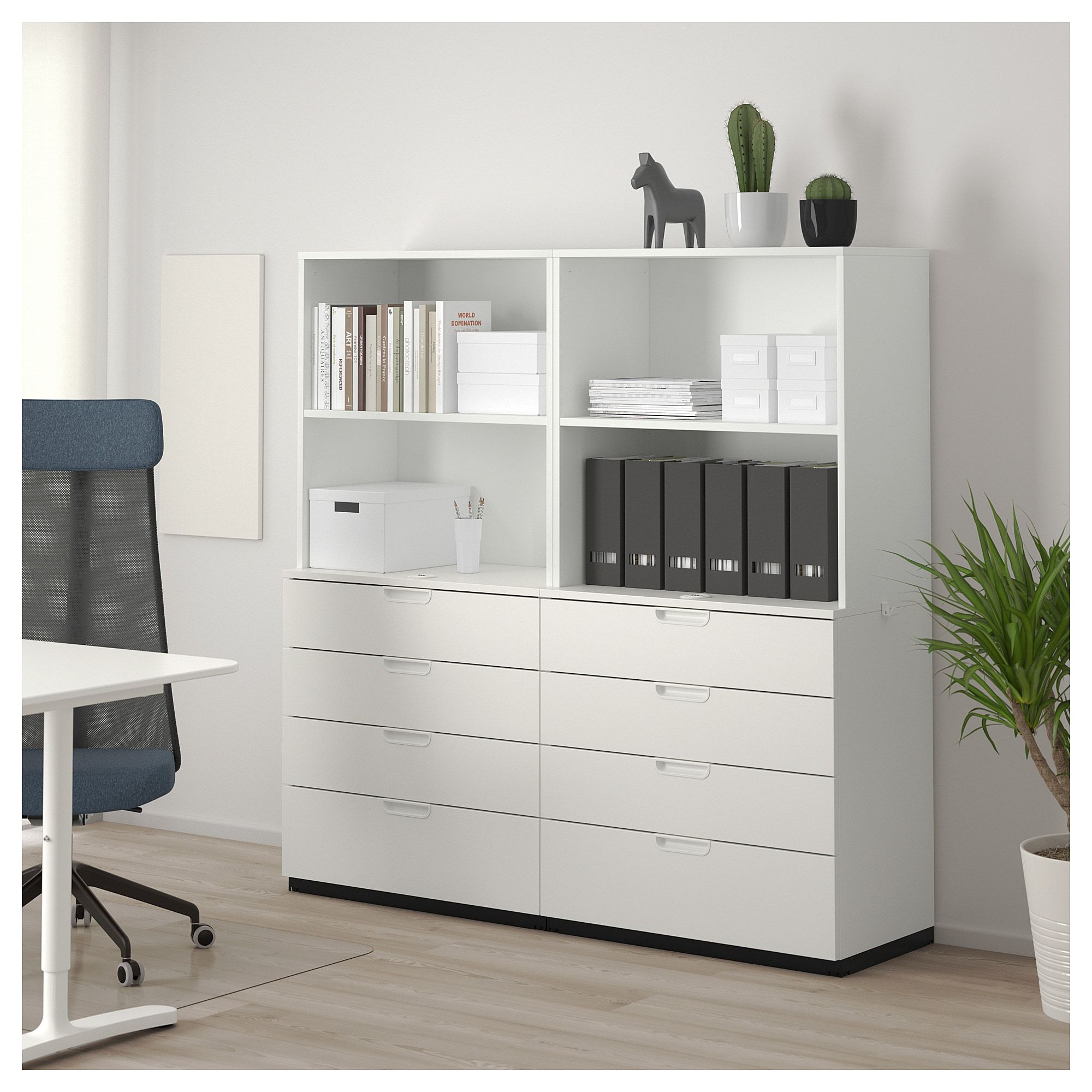 Galant Storage Combination With Drawers White 63x63 160x160