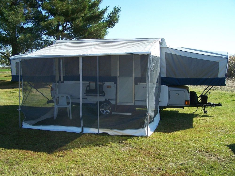 Made For A Popup Camper With A 10 Bag Awning With Velcro Attaches With Velcro To A 10 Bag Awning Wi Pop Up Tent Trailer Coleman Pop Up Campers Pop Up