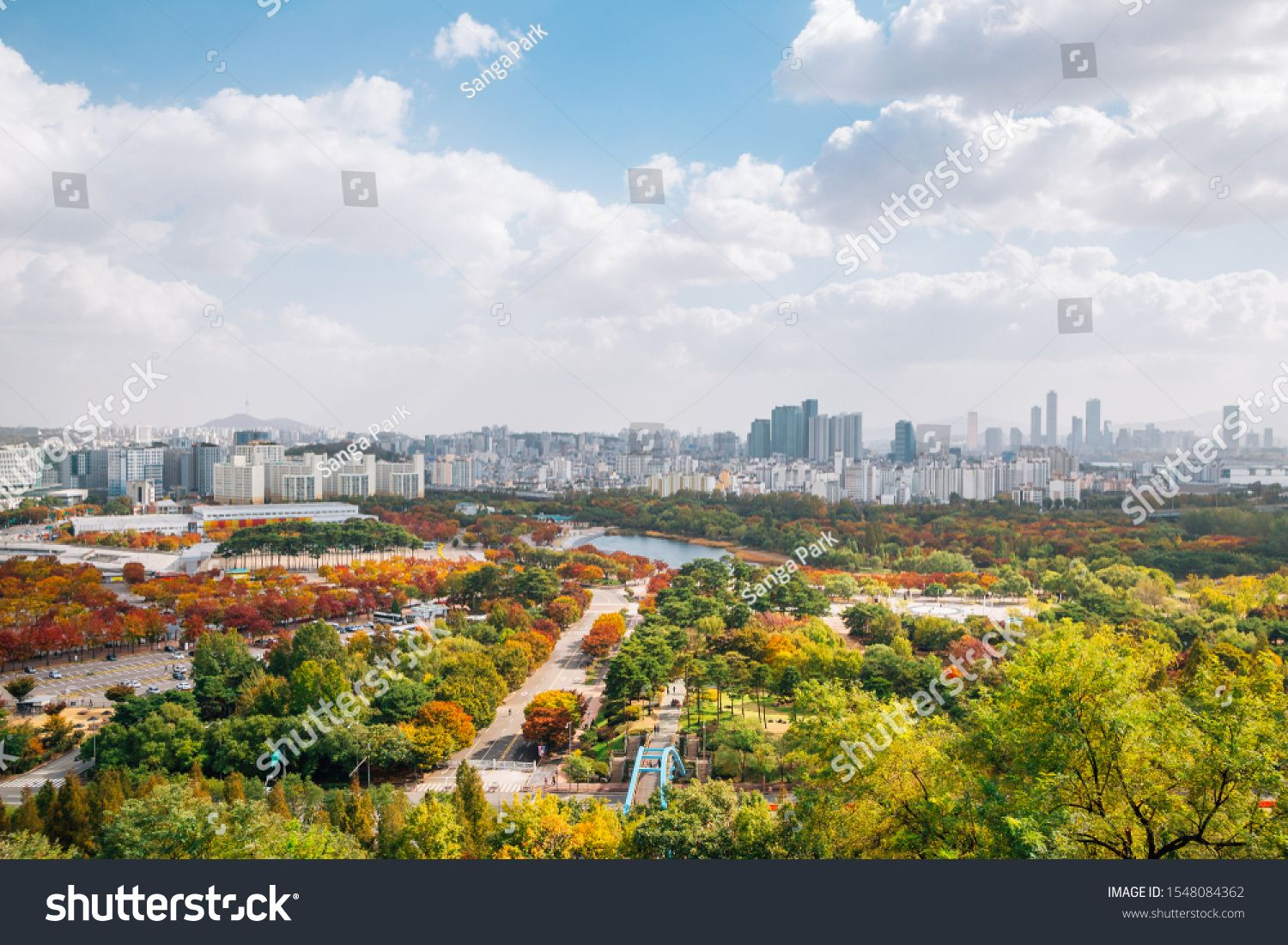 Pyeonghwa Park And Seoul City Panorama View From Sky Park At Autumn In Seoul Korea Sponsored Sponsored Seoul City Pyeonghwa P Panorama Stock Photos City