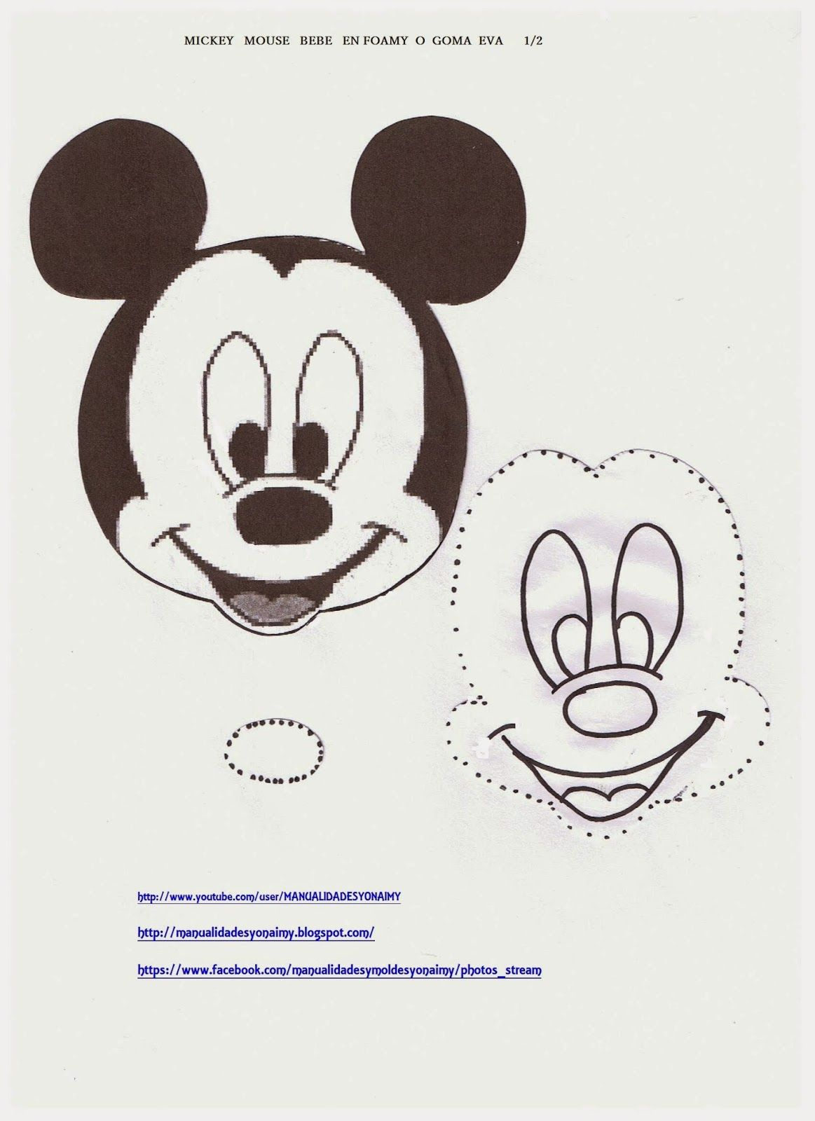 Manualidades Yonaimy En Goma Eva Pinterest Baby Mickey Fiesta