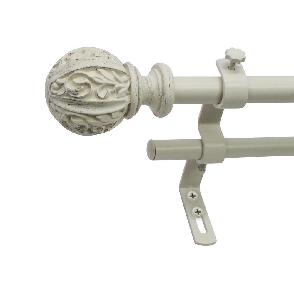 Montevilla 5 8 In Leaf Ball Telescoping Drapery Double Rod Set 26