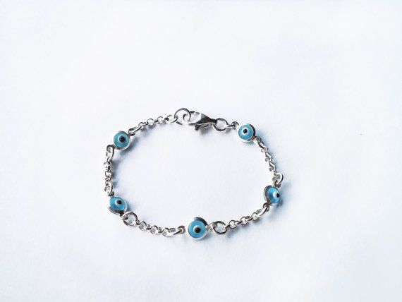 Silver Evil Eye Bracelet For Babies S Boys Children Newborn Gifts Baby Shower New Mom Kabbalah Protection