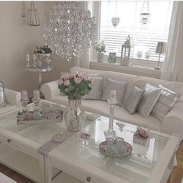 Elegant Living Romantic Living Room Glam Living Room Silver Living Room
