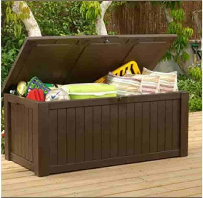 Keter Deck Box 150 Gallon With Images Patio Furniture Storage