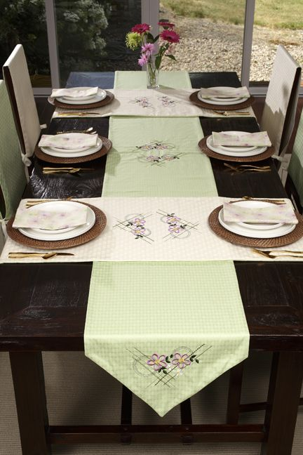 Janome Embroidered Table Runners Dining Room Table Runner Embroidered Table Runner Dining Room Table Placemats
