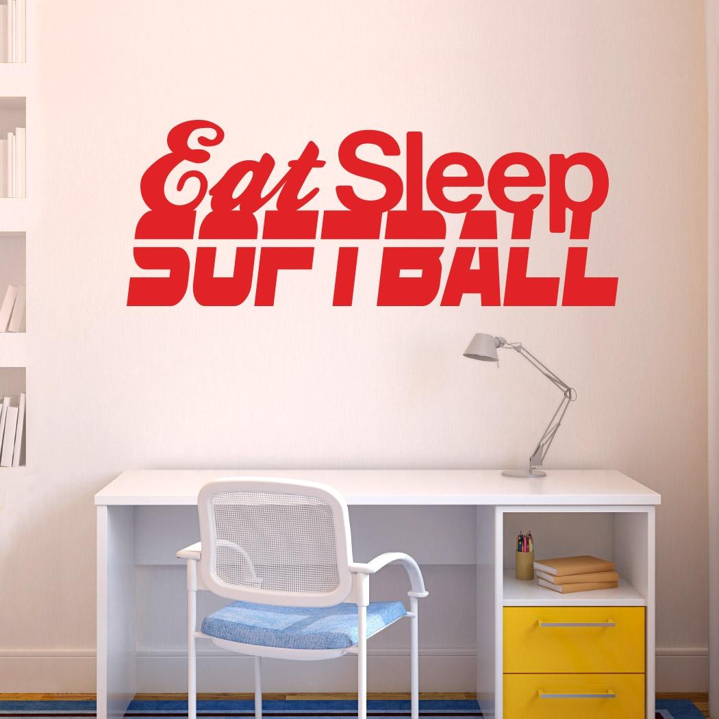 Eat sleep softball removable chalktalkgraphix wall decal eat sleep softball removable chalktalkgraphix wall decal softball wall stickers amipublicfo Choice Image