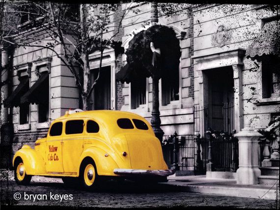 Yellow Cab photograph by Psychadelicatessen on Etsy, $79.00