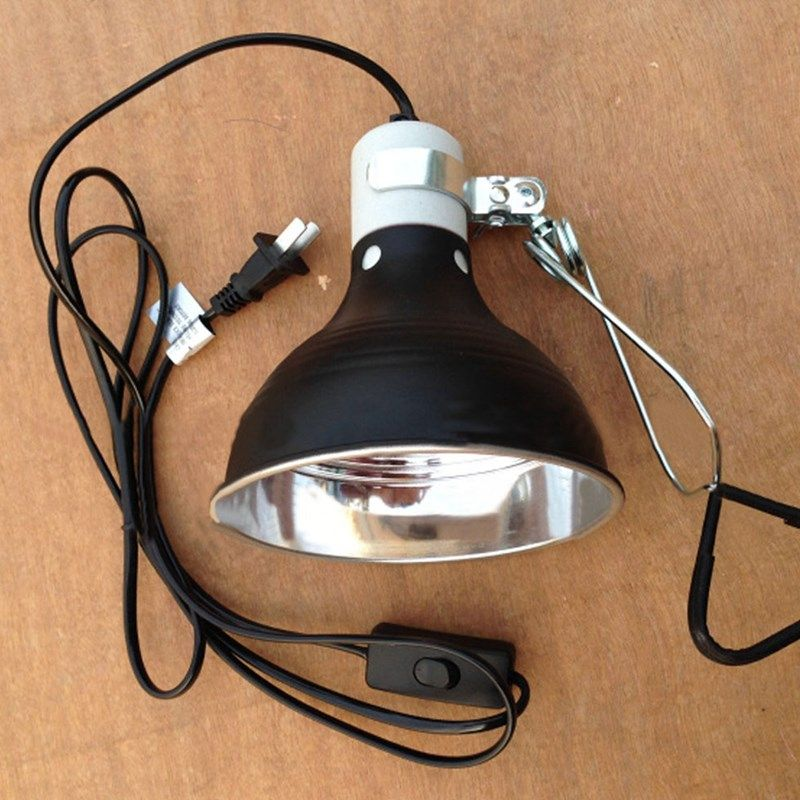 Light Holder 5 5 100w E27 Reptile Lamp Ceramic Heat Uva Uvb Chicken Brooder Basking Black Silver Aluminum 19 14cm Af Chicken Brooder Light Holder Lamp Light