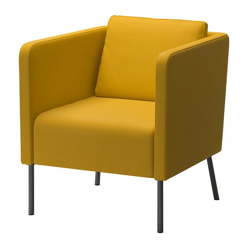 EKERÖ Lenestol IKEA Den vendbare ryggputen gir myk støtte for ryggen og to ulike sider å bruke. Ryggputen kan flyttes rundt for å passe din ...