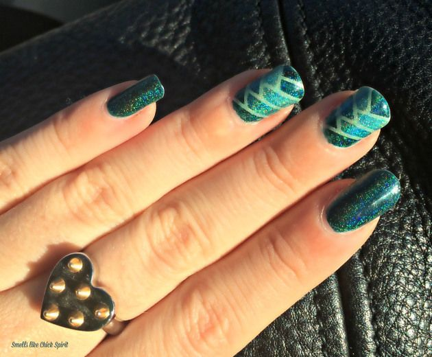 Teal Braided Nails - Inspinails by Pshiiit