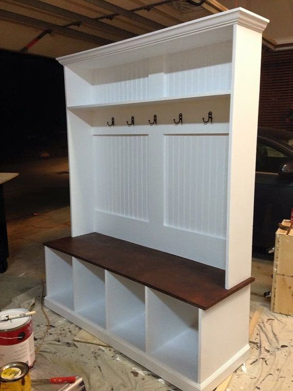 Foyer Storage Zone : Flat locker entryway halltree by