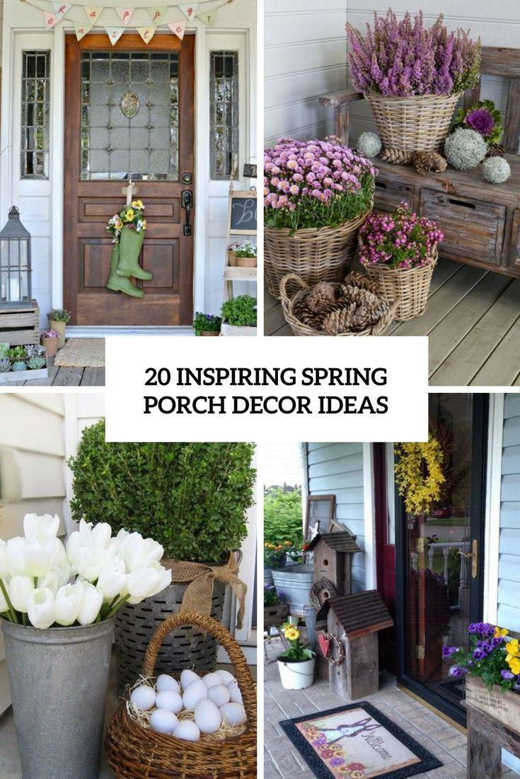 Inspiring Spring Porch Decor Ideas Cover