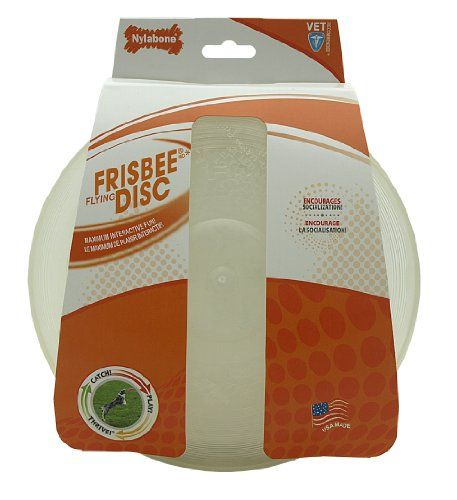 0817c293b4ddbd516110e9407b8d5ef4 $9 67 $13 99 nylabone durable frisbee flying disc dog toy, flat top
