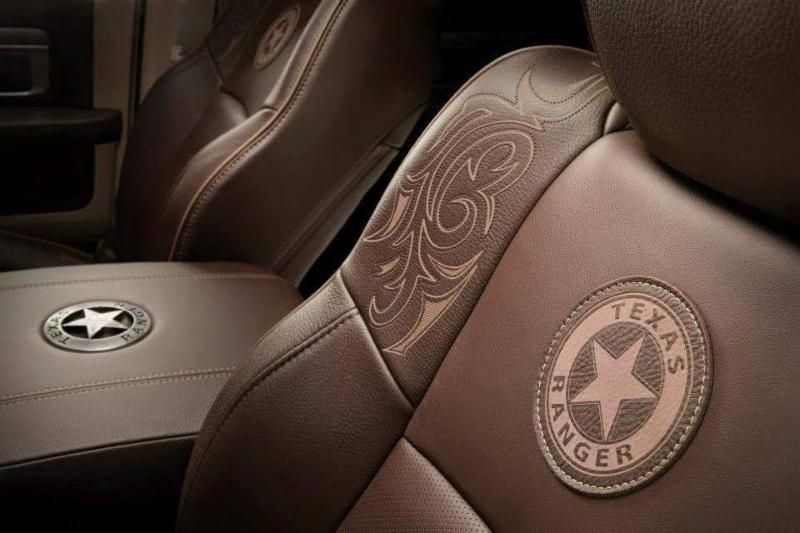 Leather Seats Feature Stylized Badge And Western Elements Introduced By Ram Truck Brand President And Ceo Bob Hegbloom At The 2015 Dall Automotivo Carros Auto
