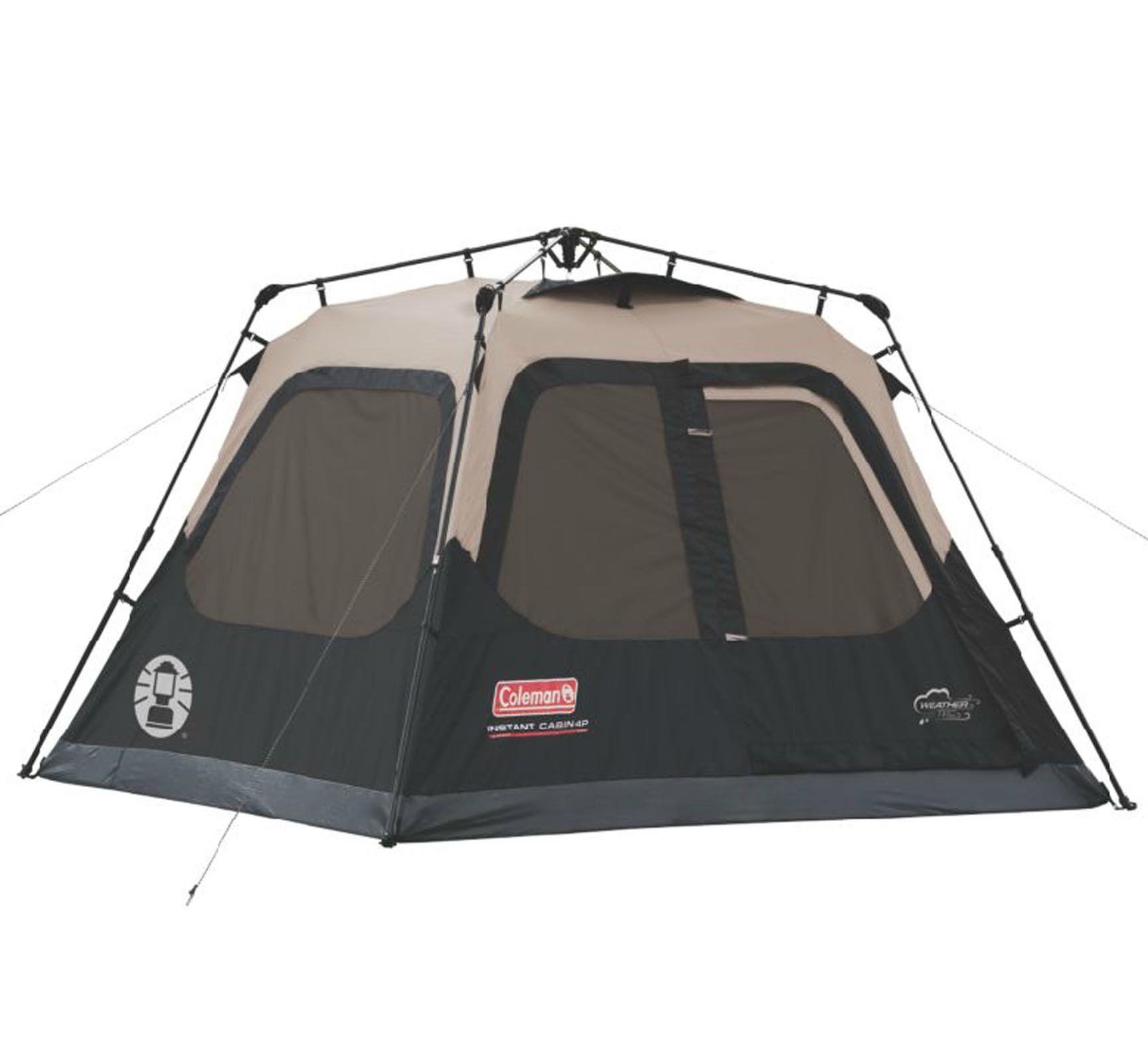 COLEMAN Outdoor C&ing Waterproof Taped 4 Person Instant Tent | 8u0027 x 7  sc 1 st  Pinterest & NEW! COLEMAN Outdoor Camping Waterproof Taped 4 Person Instant ...